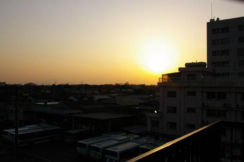 view/井の頭公園に落ちる夕日