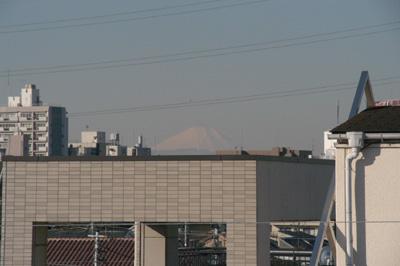 高円寺の家・屋上から富士山一望